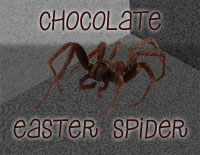 Choclate Easter Spider